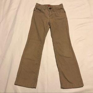 Gap Khaki Flare Leg Corduroy Pants Size 8 Slim
